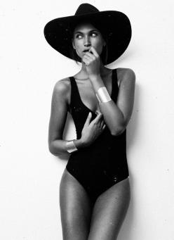 summer chic: Hats, Fashion, Bathing Suits, Beachwear, One Piece Swimsuits, Beach Style, Swimwear, Black Swimsuit