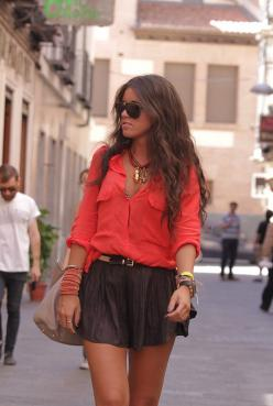 Summer Outfit fashionable but looks comfortable find more women fashion ideas on www.misspool.com: Summer Fashion, Outfit Ideas, Bright Color, Summer Style, Dress, Outfit Fashionable, Spring Summer, Summer Outfits