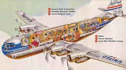 Take a look inside a 1950s Stratocruiser 377.  By: x-ray delta one on Flickr: Aviation, Airliners Photos, Airplane, Vintage Airline, Aircraft, Cutaway, X Ray