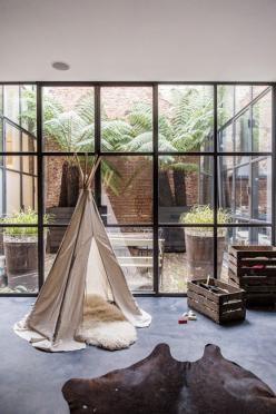 Teepee in the sitting room :): Ideas, Window, Teepee, Interiors, House, Kids, Space, Design, Room