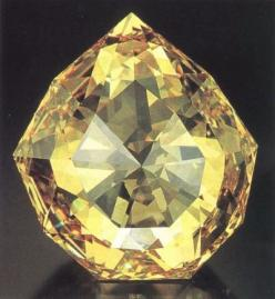 The Florentine Diamond is a lost diamond of Indian origin. It is light yellow in colour with very slight green overtones. It is cut in the form of an irregular (although very intricate) nine-sided 126-facet double rose cut, with a weight of 137.27 carats