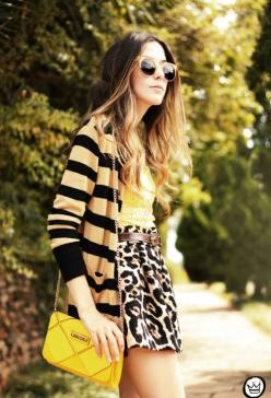 The Hottest Spring Fashion Trends  Sunshine yellow with prints!!: Hairstyles Makeup Nail Fashion, Pattern, Clothes, Fashion Styles, Street Style, Outfit, Leopards, Yellow, Fashion Trends