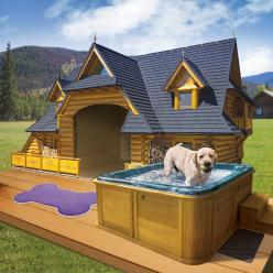 The Lodge - This and several other really cool dog house ideas: Puppy Kennel Ideas, Lodge Dog, Dream House, Awesome House Ideas, Pet, Cool Dog Houses, Dog House Idea, Dogs House Ideas