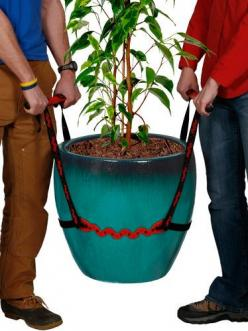 The Pot Lifter makes it easier to move heavy potted plants. via Gardener's Supply Company: Potlifter, Idea, Tools, Gardening, You, Products, Pot Lifter, Heavy Pot