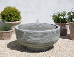The understated Girona Fountain represents minimalism at its finest.: Water Features, Bird Baths, Campania International, Outdoor Fountains, Gardens, Water Fountains, Girona Fountain, Garden Fountains, Bath Fountain
