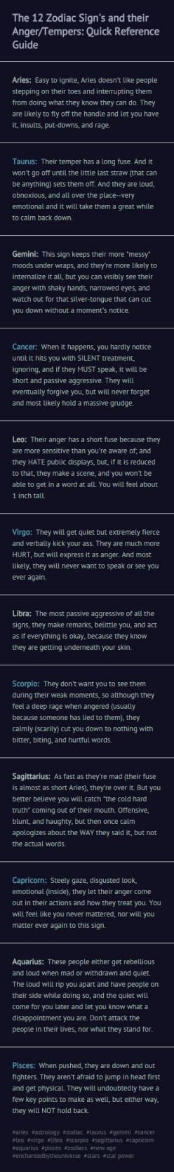The zodiac signs & their anger/tempers: So incredibly accurate for all the signs...not just mine.: Zodiac Signs, Anger Tempers, Zodiac Cusp, Astrology Sign, Zodiac Quote, Astrology Gemini, Virgo