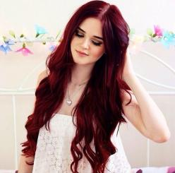 Those Bellami extensions! I so cannot wait for my Lilly hair to come in and get my hair colored red!: Hair Colors, Hairstyles, Hair Styles, Haircolor, Makeup, Red Hair Color, Redhair, Hair Colour, Bright Hair Color Idea