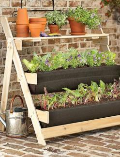 Totally overpriced at $219, but a great DIY project. Repurposed ladder?: Garden Ideas, Gardening Ideas, Bag Terrace, Gardens, Terrace Kit, Terraces, Bags, Flower