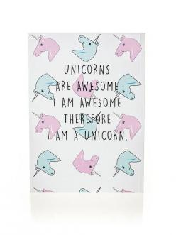 Unicorns are awesome. I am awesome. Therefore I am a unicorn. #wisdom #affirmations: Unicorn Gifts, A Unicorns, Gift Ideas, Unicorns Are Awesome, Notebooks, Wisdom Affirmations, Awesome Notebook, Products, Birthday Gifts