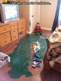 Until my youngest one came along, I never realized just how quickly calamity could happen.: Funny Pictures, Funny Stuff, Children, Humor, Funnies, Hilarious, Photo, Funny Kids