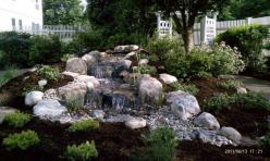 Waterfall created by Picture Perfect Ponds. #WaterfallWednesday: Water Pondless, Water Gardens, Waterfalls Add, Perfect Pondless, Water Features, Flowing Water, Perfect Ponds, Picture Perfect, Pondless Waterfalls