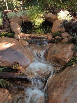 Waterfall created by R&A Water Features & Landscaping in Plainwell, MI. #WaterfallWednesday: Water Feature, Pondstars Tv, Ponds Streams, Garden Art, Garden Koi, Gölet Waterfall, Garden Ponds, Water Garden, Waterfall Ponds