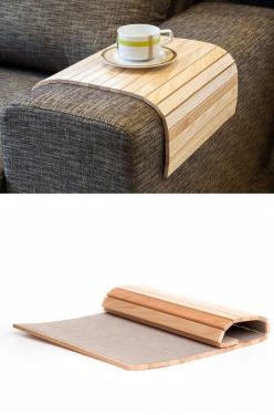 Wood bendable tray table: Sofa Table, Idea, Wood Bendable, Tray Tables, Bendable Tray, Wood Tray, Sofa S Table, Bendable Wood, Sofas