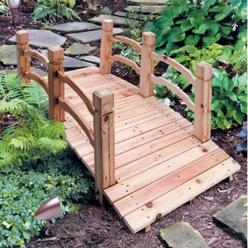 wooden garden bridge ... Would love to have one of the in my back yard: Garden Ideas, Yard, Outdoor, Garden Bridges, Gardening, Wood Gardens, Woods