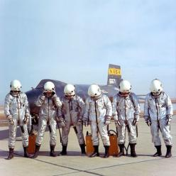 X-15 pilots enjoy a lighter moment: Test Pilots, Spaces, Pilots Enjoy, Stuff, Vintage Space, X 15 Pilots, Carnivals, Aero Space