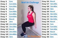 30 day challenge wall sits. Yikes @moxiethrift on etsy powell @Chelly Cruz Smith shall we start tomorrow?!: 30 Day Challenge, Challenge 30 Days, Challenge Wall, Wall Sit Challenge, Workouts, Exercise Workout, Health, Fitness Challenges