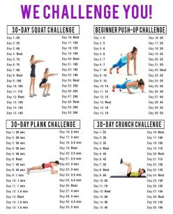 30 day Challenge. Who wants to try it with me? @Hannah Mestel Mestel Mestel Galler? @Heather Creswell Creswell Creswell Wood?: 30 Day Challenge, 30Day, Challenges, Squat Challenge, Workout Challenge, Fitness Challenge, Push Up, Work Out, Exercise Challeng