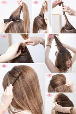 32 Amazing and Easy Hairstyles Tutorials for Hot Summer Days: Hair Ideas, Hairstyles, Make Up, Hair Styles, Hairdos, Makeup, Hair Tutorial, Hair Do, Beauty