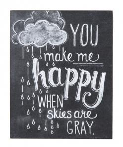 """Make Me Happy"" Rustic Wall Decor: Chalkboards, Chalkboard Quote, Quotes, Happy, Chalk Board, Chalkboard Idea, Chalkboard Art, Chalkboard Print, Chalk Art"
