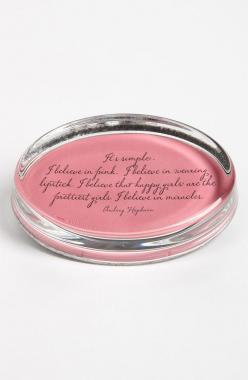 'I Believe in Pink': Prettiest Girls, It S, Audrey Hepburn Quotes, Pink Paperweight, Gifts Ideas, Gardens, Ben S Garden, Happy Girls