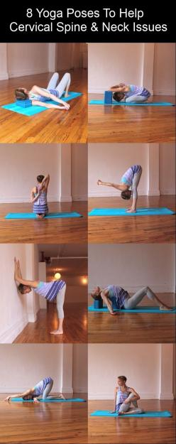 8 Yoga Poses For Spine and Neck fitness exercise yoga diy exercise healthy living home exercise stretching yoga poses yoga tutorial yoga pose: Neck Stretch, Yoga Exercise, Yoga Stretch, Cervical Spine, Yoga Sequence, Yoga Poses, Neck Issues, Yoga Workout,