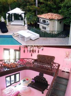 9 Spectacular Pet Palaces - Uphaa.com: Celebrities Pets, Doggiesฅ ع ฅ, Animals, Dogs House, Dog Beds, Hiltons Dogs, Doggie Mansions