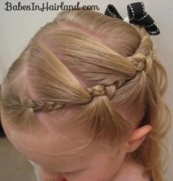 A great website that has very cute hair ideas! I am excited to try these on Parker. Could be cute for gymnastics.: Kids Hair, Hair Ideas, Little Girls, Hairstyles, Hair Styles, Girls Hair