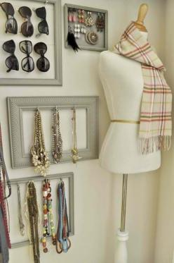 accessories wall....would be perfect on a closet wall...have a few know but thinking of adding more: Walk In Closet, Craft, Closets, Closet Organization, Jewelry, Closet Ideas, Diy, Dressing Room