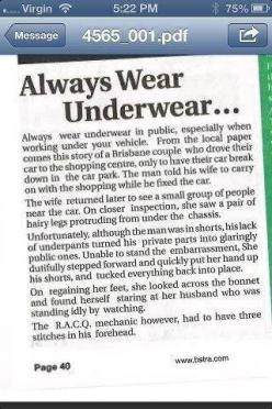 ALWAYS WEAR UNDERWEAR. I am laughing so hard right now that I'm crying!: Giggle, Wear Underwear, Funny Stuff, Funnies, Humor, Things, Smile, Funnystuff