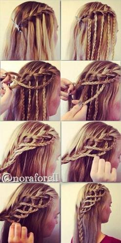 Amazing Hairstyle: Rope Braid. This is awesome! Medieval/Lord of the Rings worthy braids! |Cool braids||Braided hairstyles|: Medieval Hairstyle, Cool Braid, Rope Braid, Hair Style