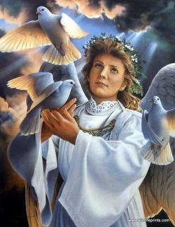 ANGEL OF PEACE BY JERRY GADAMUS: Angels Ahead, Peace Dove, Angels Brought, Angels Churches, Angels Among Us, Gadamus Angel, Heavenly Angels, Angels Amoung