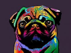 Artsy pug ♥ Clean pug! Pug Love dog doggie puppy boy girl black fawn funny fat outfit costume: Pug Art, Pug Life, Art Prints, Pugs, Pug Dogs, Dog Art, Animal