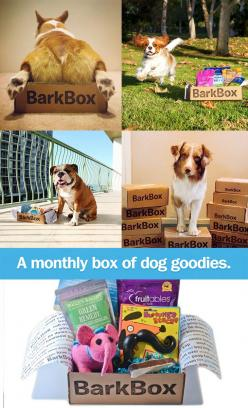 Bark Box // A box of awesome doggy products for your pup, delivered to your door every month! Hehe! #designer_pet: Doggy Door Ideas, Quality Dog, Ideas For Dogs, Forthedogs Dogproducts, Fur Babies, Dog Products, Dog Stuff Ideas