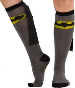 Batman socks with capes... your love life will never be better with these on.: Gift Ideas, Caped Knee, Batman Socks, Knee Highs, Batman Caped, Products, Knee High Socks, Superhero