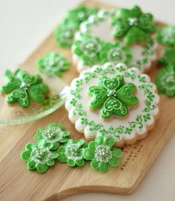 Beautiful Cookies for St. Patrick's Day: Sugar Cookies, Clover Cookie, Shamrock Cookies, Cookie Art, St. Patrick'S Day, Decorated Cookies, Cute Cookies