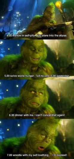 "Because sometimes, you'll find any excuse not to leave the house. | The 12 Most Relatable Quotes From ""The Grinch"" -- hahahha♥: The Grinch, Daily Schedule, Giggle, Quote, My Life, Favorite Movies, Christmas Movie, Jim Carrey"