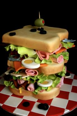 Believe it or not, this is a cake!: Creative Cake, Sandwiches, Food, Amazing Cakes, Amazingcakes, Awesome Cake, Sandwich Cake