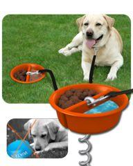 better tether - this would be great for when we take the girls off-roading with us: Tether Dog, Pet Products, Dogs, Dog Tether, Providing Pets, Better Tether, Dog Products, Top