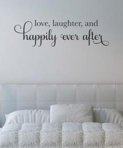 Black 'Happily Ever After' Wall Decal by Wallquotes.com by Belvedere Designs on #zulily: Wall Quotes Decals Bedroom, Decorating Ideas, Belvedere Designs, Happily Ever After Quote, Bedroom Wall Decals Quotes, Master Bedrooms, Wallquotes Com, Black