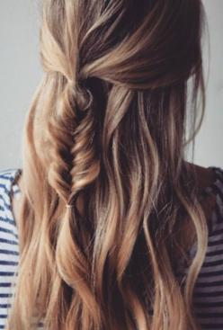 Bold braided hairstyles.: Fish Tail, Messy Fishtail Braid, Messy Braided Hairstyle, Perfect Braid, Hair Style, Braided Hairstyles, Fishtail Braid Hairstyle, Half Up Hairstyle