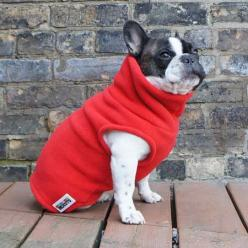 Boys Turtleneck - Red - French Bulldog Pug Fleece Sweater – Babies & Beasts: Bulldog Plantation, French Bulldogs, Boys Turtleneck, Pug Fleece, Bulldog Pug, Boys Fleece