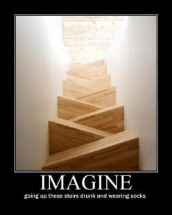 But the problem with this is that the picture was taken from the top of the stairs. Not the bottom.: Sock, Giggle, Stairs, Random, Funny Stuff, Humor, Funnies