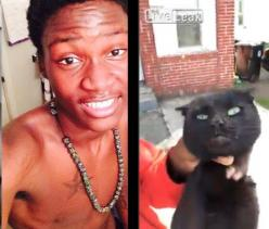 Charge THUG, King De'ontae, of Cleveland, Ohio That Held A Cat By The Neck And Slammed Her To The Ground For Eating His Dog's Food!  HELP GET JUSTICE: URGE the authorities to investigate this case and Demand PROSECUTION!  PLZ Sign and Share!: Dogs