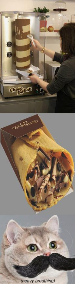 Chocolate Kebab Is Here // funny pictures - funny photos - funny images - funny pics - funny quotes - #lol #humor #funnypictures: Chocolates, Food, Funny, Kebabs, Breathing Cat