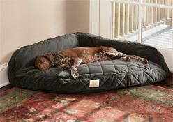 corner dog bed.  Oh my goodness my dogs would love this!  It could replace the make shift bed I made (with pillows and blankets) in the corner of our bedroom!: Dogbeds, Corner Dog, Dogs, Pet, Dog Beds, Dog Stuff, Animal, Big Dog Bed