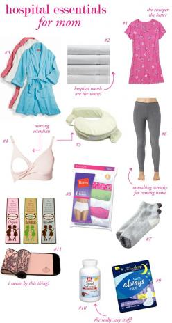 Could also use as ideas for what to take a friend who has just given birth. -Hospital Packing List for Baby & Mom: Baby Essential, Idea, Baby Mom, Baby Baby, Hospital Packing Lists, Hospital Essentials, Hospital Bags, Friend