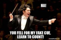"Count! And if we count and don't follow them it's all: ""No! Follow me not the music!"": Marching Band, Band Geek, Band Director, Band Jokes, Teacher, Music Humor, Music Band"
