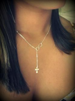Cross & Infinity Love: Girl, Jewelry Accessories, Infinity Necklace, Infinity Love, Infinity Cross, Bling Bling