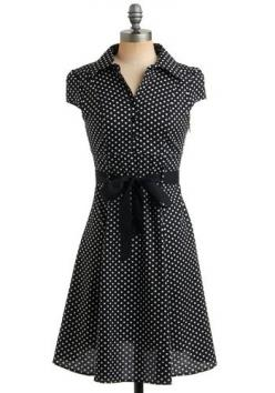 Cute dress from modcloth: Soda Fountain, Polka Dots, Hepcat Dress, Style, Modcloth, Vintage Dress, Black Licorice, Polka Dot Dresses, Polkadots
