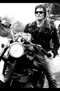 Daryl. The only man who could ever approach me for love without showering first. ...had to keep this part...: But, Norman Reedus, Daryl Dixon, Normanreedus, Walking Dead, Daryldixon, Motorcycle, Reedus Daryl, Walkingdead